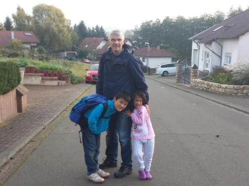 Der Start unserer Wanderung von Illingen bis nach Stettin