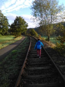 Auf der Draisinenstrecke