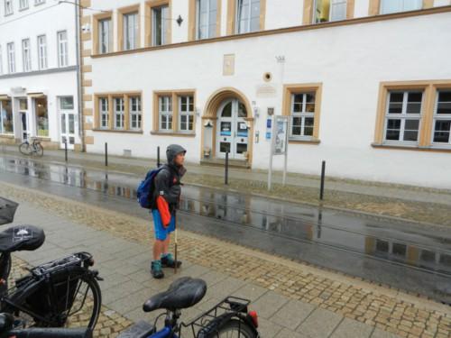 Schon sind wir in Erfurt
