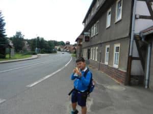 Doch noch ein Brötchen auf dem langen Weg nach Eisenach