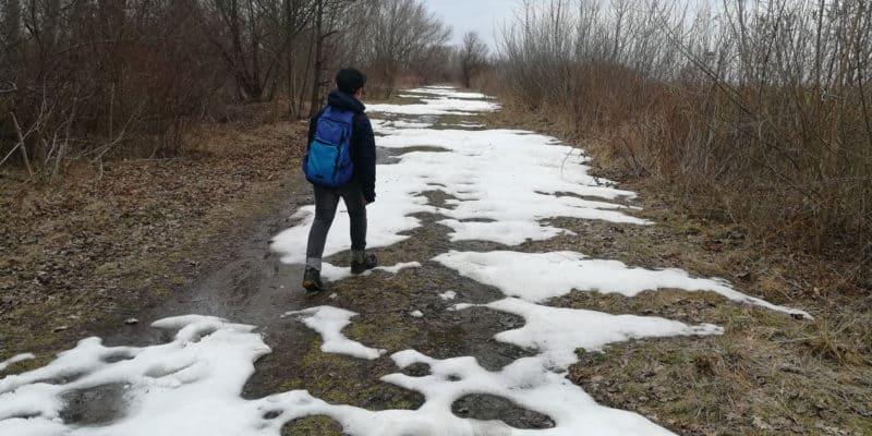 Von Leipzig nach Delitzsch ... noch über Schneefelder