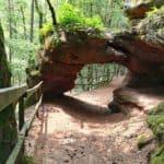 Das Felsentor auf der Felsenwaldtour bei Primasens