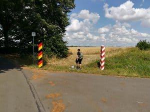 Die Grenze zwischen Deutschland und Polen bei Staffelde