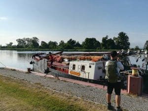 Regatta mit alten Dampfschiffen von Gartz nach Stettin