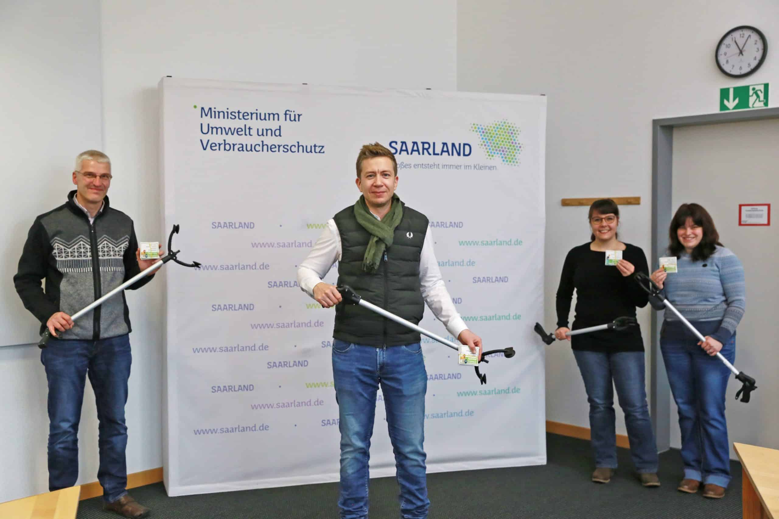 Besuch von Cleanup Saarland beim Umweltministerium; © Angelina Müller, MUV